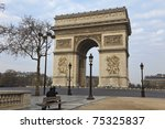 arc de triomphe   arch of... | Shutterstock . vector #75325837