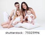 happy family with children... | Shutterstock . vector #75325996