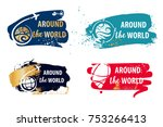 text around the world. sketch... | Shutterstock .eps vector #753266413