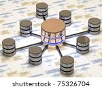 database in black and yellow... | Shutterstock . vector #75326704