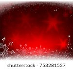 christmas red background with... | Shutterstock .eps vector #753281527