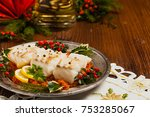Christmas Fish. Roasted Cod...