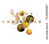 abstract christmas and new year ... | Shutterstock .eps vector #753289087