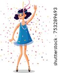 flapper party girl from the...   Shutterstock .eps vector #753289693