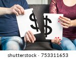 fight about money or financial... | Shutterstock . vector #753311653