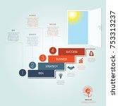 conceptual infographics steps... | Shutterstock .eps vector #753313237