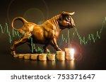 financial investment in bull... | Shutterstock . vector #753371647