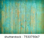 green painted natural wood... | Shutterstock . vector #753375067