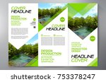 business brochure. flyer design.... | Shutterstock .eps vector #753378247