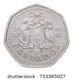 One Barbados Dollar With The...