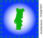 map of portugal | Shutterstock .eps vector #753387097