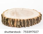 cut tree on white background.... | Shutterstock . vector #753397027