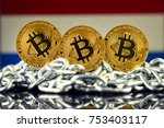 physical version of bitcoin ... | Shutterstock . vector #753403117