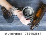 alcohol addiction concept ... | Shutterstock . vector #753403567