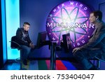 Small photo of BERLIN, GERMANY - OCT 1, 2017: The millioner TV game, Madame Tussauds Berlin wax museum.