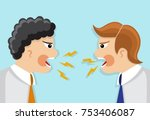 two businessmen in a tie in a... | Shutterstock .eps vector #753406087