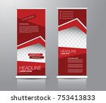 roll up banner stand template.... | Shutterstock .eps vector #753413833