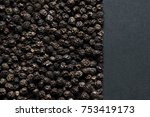black pepper peas from above ... | Shutterstock . vector #753419173