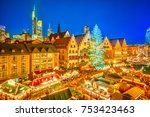 traditional christmas market in ... | Shutterstock . vector #753423463