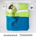young woman sleeping in the... | Shutterstock . vector #753424453