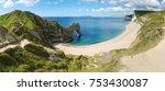 durdle door panorama  dorset... | Shutterstock . vector #753430087