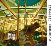 Small photo of Close Up of Carnival Vintage Carousal