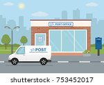 post office building  delivery... | Shutterstock .eps vector #753452017