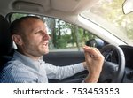 angry italian driver gesturing... | Shutterstock . vector #753453553