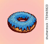 soft bun with yummy vibrant...   Shutterstock .eps vector #753465823