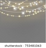 christmas lights isolated on... | Shutterstock .eps vector #753481063