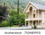laerdalsoyri  norway  ... | Shutterstock . vector #753485953