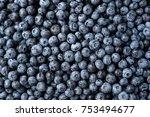 fresh blueberry background.... | Shutterstock . vector #753494677