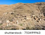 small village in the high atlas ... | Shutterstock . vector #753499963