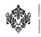vintage baroque frame scroll...   Shutterstock .eps vector #753500647