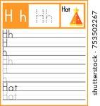 worksheet.alphabet activity for ... | Shutterstock .eps vector #753502267