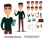 business man cartoon character... | Shutterstock .eps vector #753505357