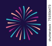 colorful simple fireworks icon... | Shutterstock .eps vector #753506473