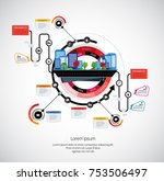 business infographic layout... | Shutterstock .eps vector #753506497