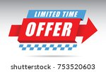 limited time offer banner... | Shutterstock .eps vector #753520603