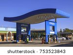 Small photo of CASABLANCA, MOROCCO - JANUARY 8, 2010: Gas Station operated by Akwa Group, a Morrocan company headquartered in Casablanca. Its service stations operate under the Afriquia Brand.