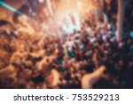 blurred for background. night...   Shutterstock . vector #753529213