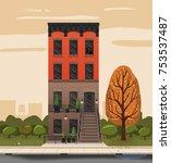 illustration of a city... | Shutterstock .eps vector #753537487