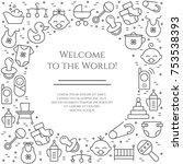baby theme horizontal banner....   Shutterstock .eps vector #753538393