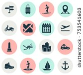 includes icons such as landmark ... | Shutterstock .eps vector #753541603