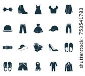 includes icons such as trilby ... | Shutterstock .eps vector #753541783