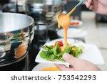 tablespoon measure of creamy...   Shutterstock . vector #753542293