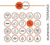 includes icons such as... | Shutterstock .eps vector #753542413