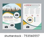 modern business two sided flyer ... | Shutterstock .eps vector #753560557