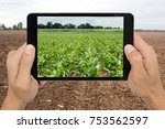 smart agriculture with... | Shutterstock . vector #753562597
