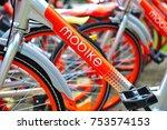 singapore   oct 8  2017  mobike ... | Shutterstock . vector #753574153
